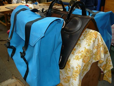 Pack saddle with bags 2
